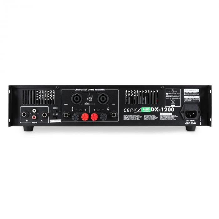 DX1200 amplificatore 1200W ponticellabile