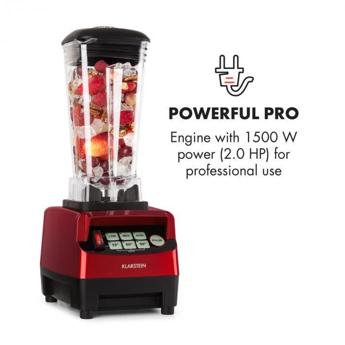 Herakles 5G Blender pour smoothie mixeur sur pied 1500W sans BPA -rouge