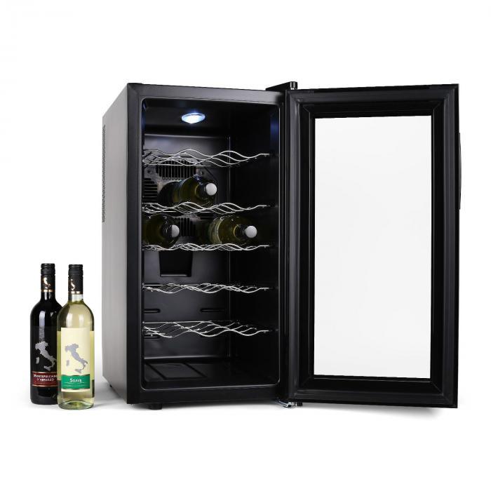 Vivo Vino Weinkühlschrank 52 Liter 18 Flaschen LED schwarz