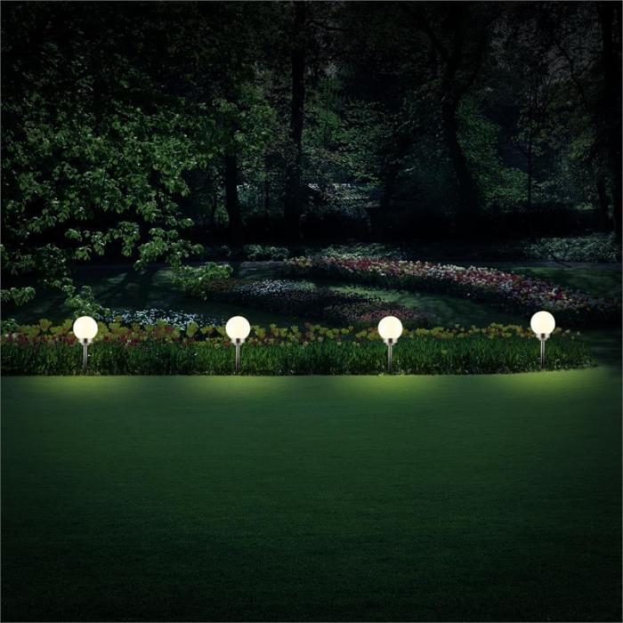 LED-Flower 20 Solar -puutarhavalaisin Ø 20cm 4 LED:iä IP44 lämpimän valkoinen