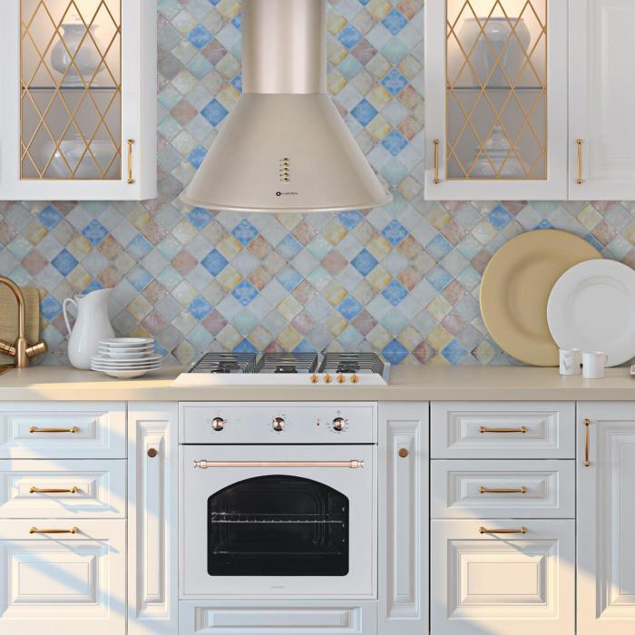 lumio retro dunstabzugshaube edelstahl champagnerfarben. Black Bedroom Furniture Sets. Home Design Ideas