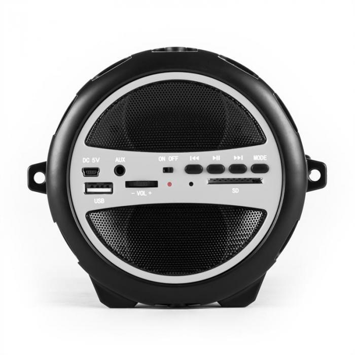 Dr. Beat 2.1 Bluetooth Speaker USB SD AUX FM Battery Silver