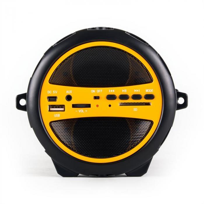 Dr. Beat 2.1 Bluetooth-kaiutin USB SD AUX akku keltainen