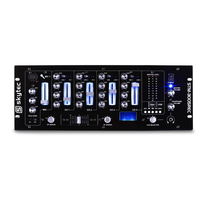STM 3005REC 4-Channel DJ Mixer MP3 USB REC EQ