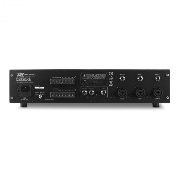 PDV240Z amplificatore 6 canali 240W RMS