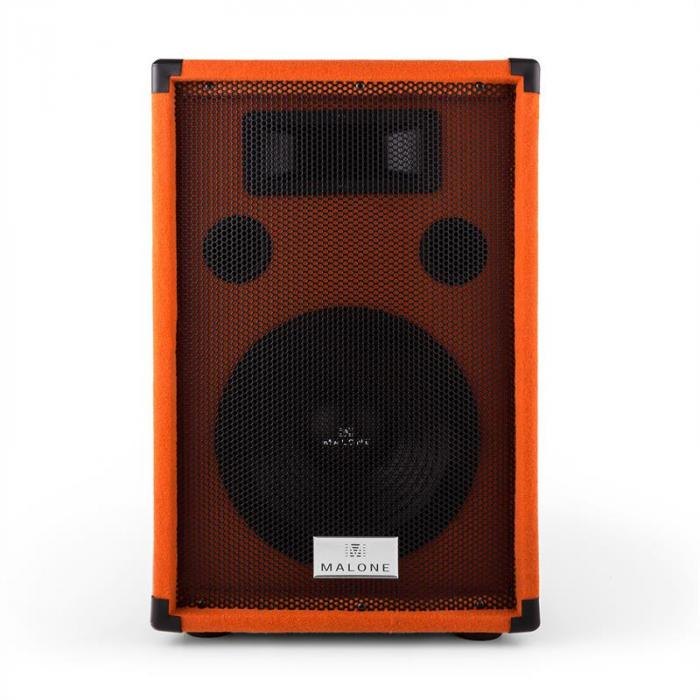 "Beatamine-D PA-kaiutinpari 25cm 10"" 200W RMS 400W max. orange"
