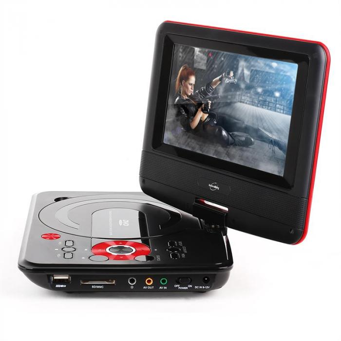 "Inovalley LDD-38 portabler DVD-Player 7"" LCD-Display USB SD MMC"