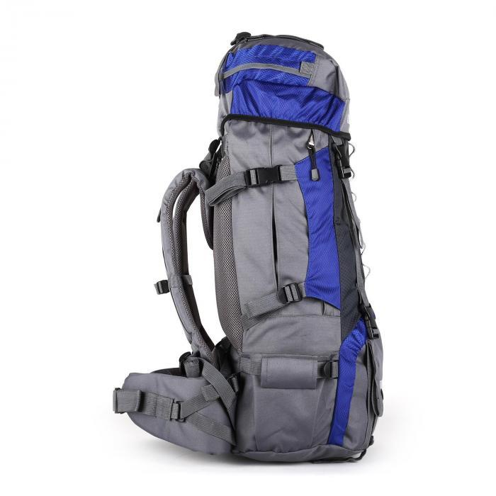 Heyerdahl Sac à dos trekking randonnée camping 70 litres + housse-bleu zXeZmrSU0