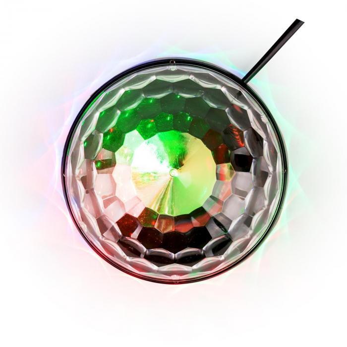 UFO-ASTRO-BL effetto luce LED RGB nero