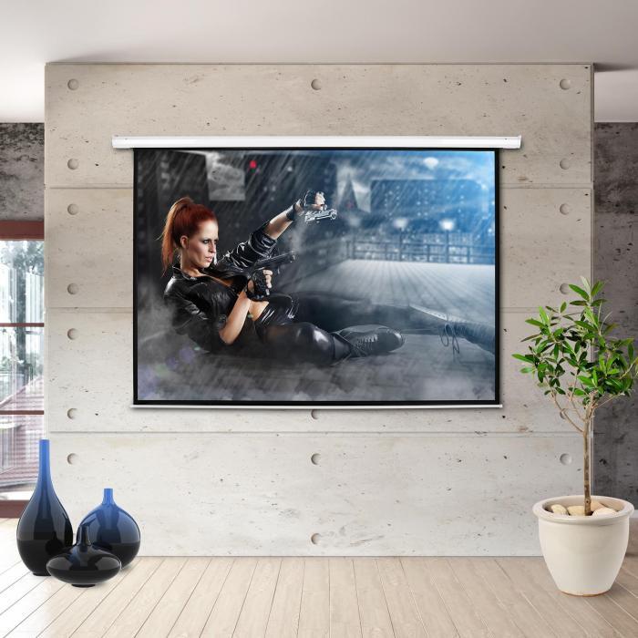"""206x115cm Moto-77169 schermo proiettore elettrico 77"""""""