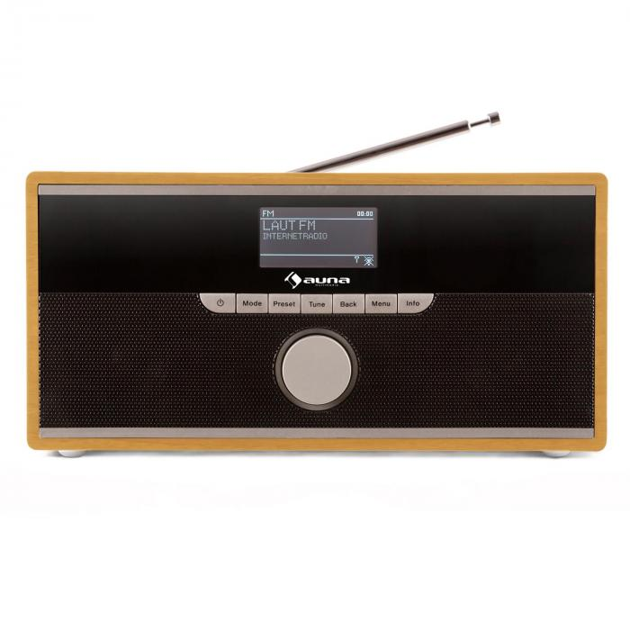 Weimar Portable DAB Internet Radio Bluetooth DAB + FM Alarm Clock