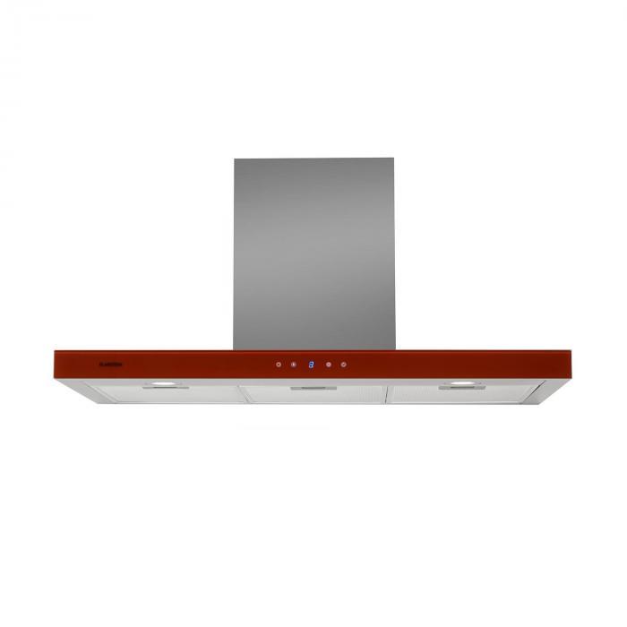 Bon Vivant Noir Campana extractora, 90cm 650m³/h Vidrio Acero
