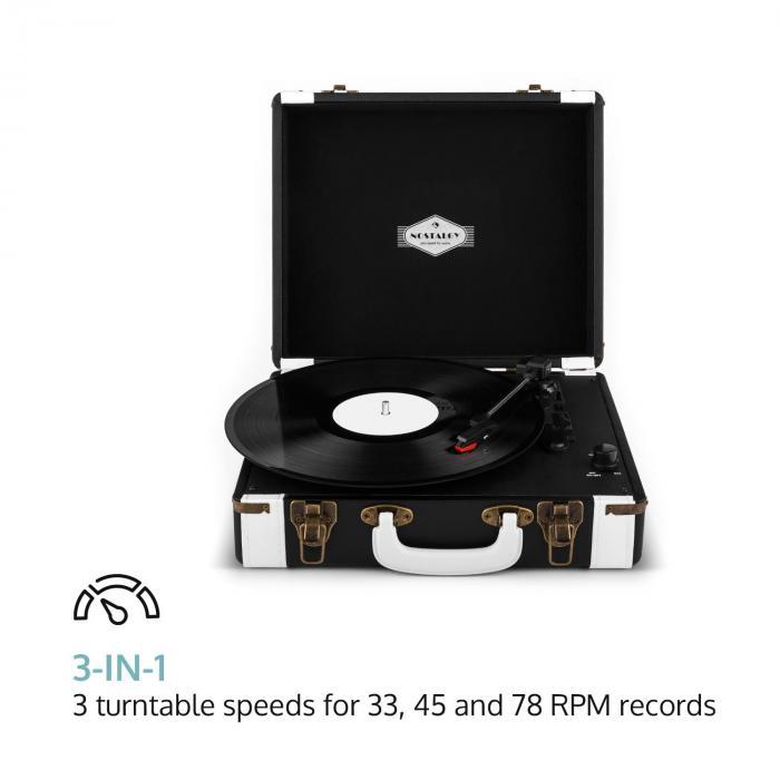 Jerry Lee Platine tourne-disque vinyle rétro LP USB -noir & blanc