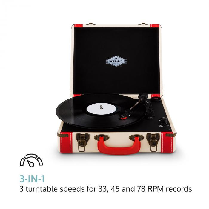 Jerry Lee Retro Turntable LP USB White