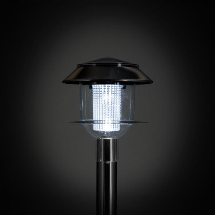 Luzern Gartenlampe Solarleuchte 4er Set LED Akku IP44 Edelstahl