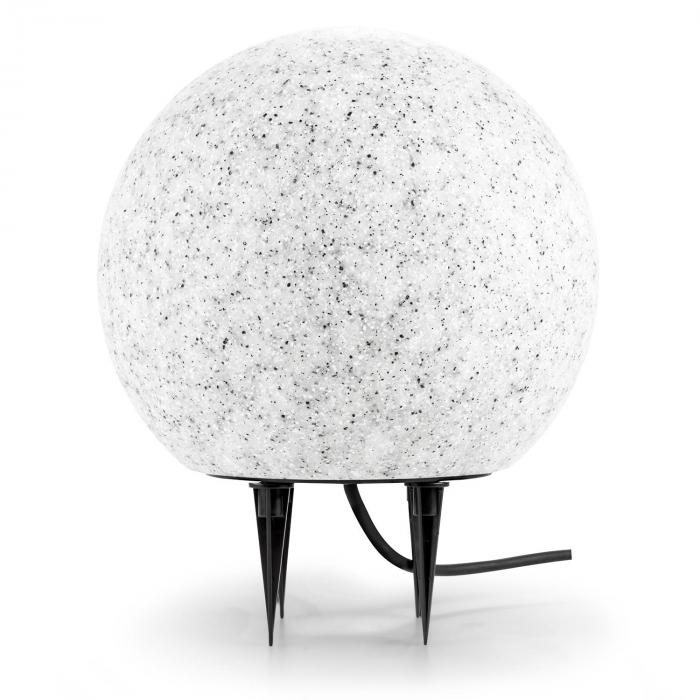 Shinestone M Globe Lamp Outdoor Garden Light 30cm Stone Look