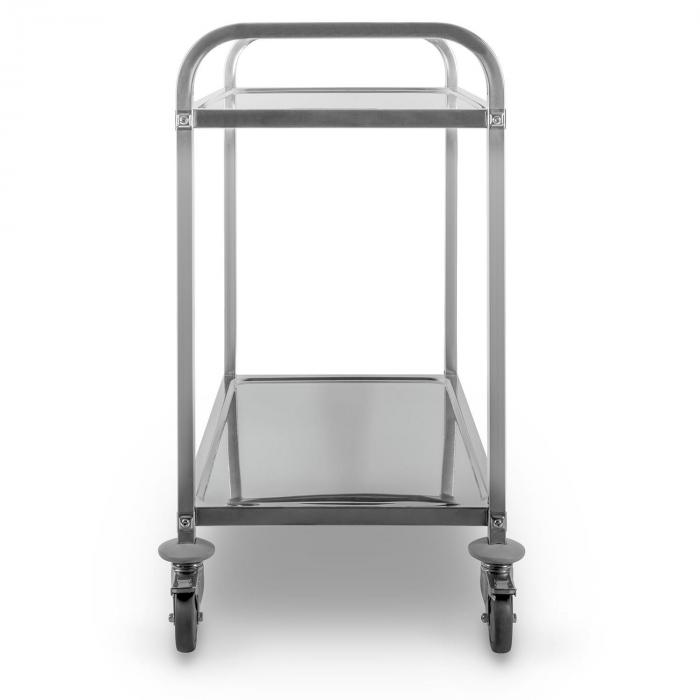 The Great Gatsby Catering Trolley Cart 2 Shelves Stainless Steel