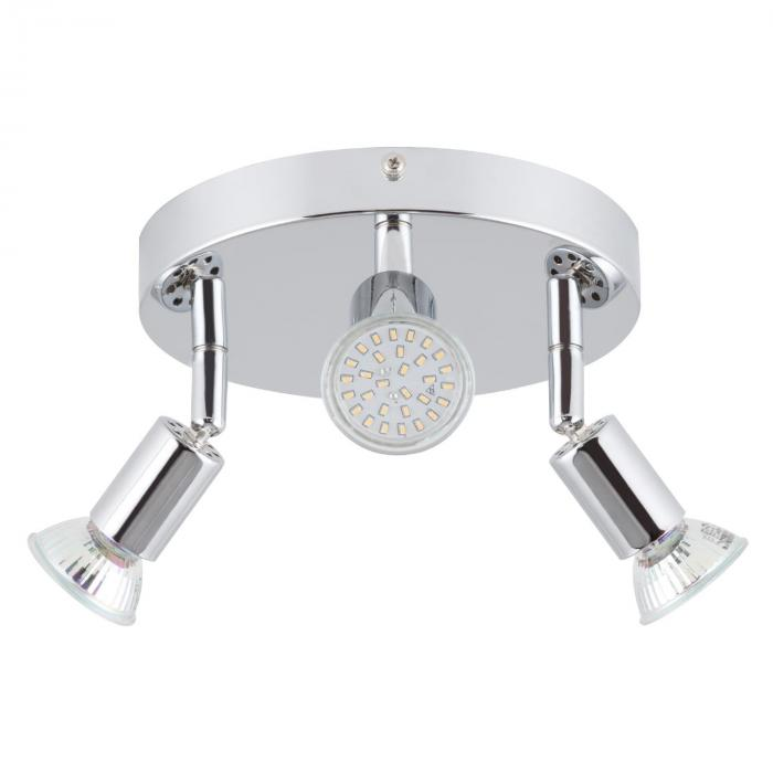 Kvalfoss 3 Ceiling Spot Lamp LED 3x3W 250lm Rotatable Swivel Chrome