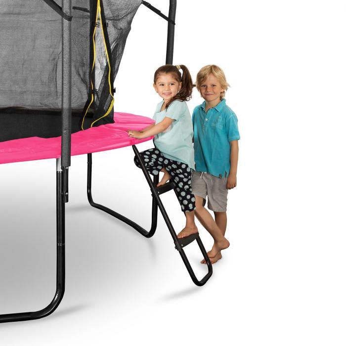 rocketgirl 366 trampolin 366cm sicherheitsnetz innen breite leiter pink online kaufen. Black Bedroom Furniture Sets. Home Design Ideas
