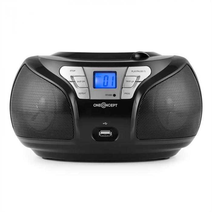 Groovie BK Boombox Bluetooth CD UKW AUX MP3