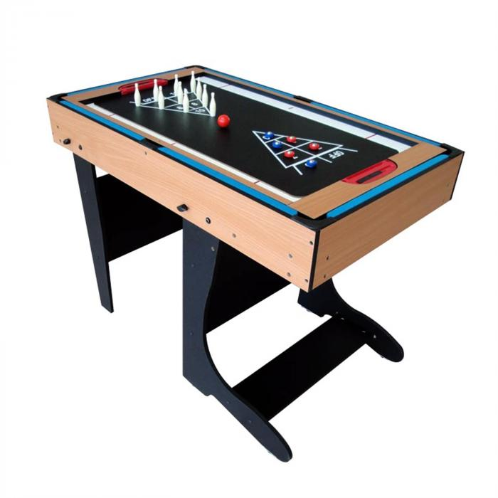 4 in 1 Game Table Foldable 12 Games Air Hockey Foosball Pool