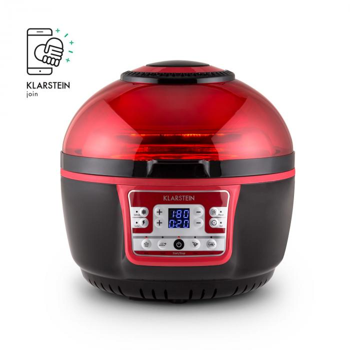 VitAir Turbo friteerauskeitin puna-musta 1400 w grillaus paisto 9 l