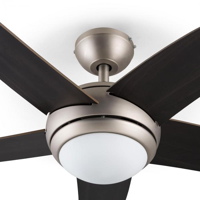 Bolero Ventilatore Soffitto 134 cm Lampadine 55W Pale in Noce