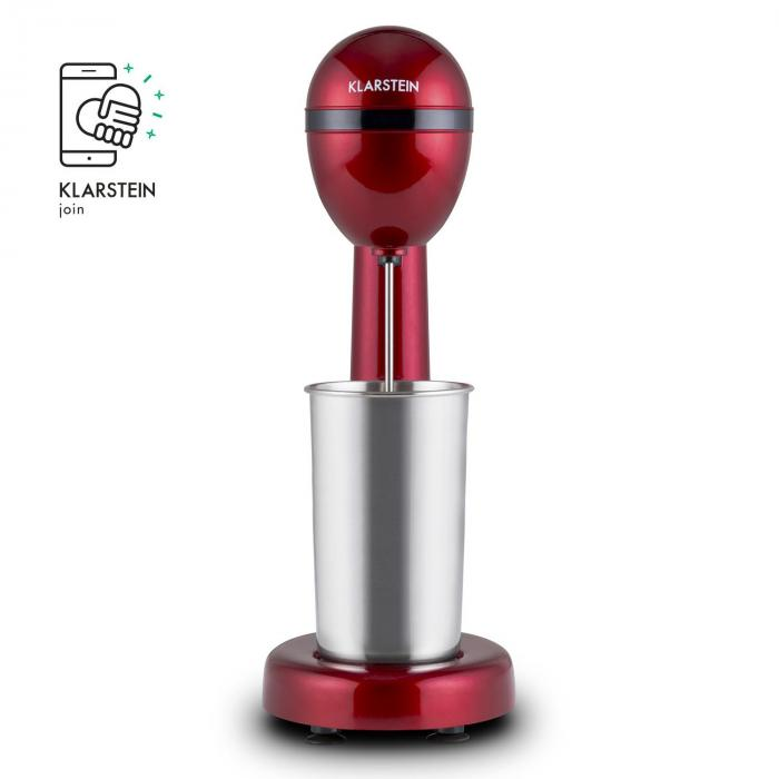 van Damme Drink Mixer Shaker 100W 450ml Stainless Steel Red