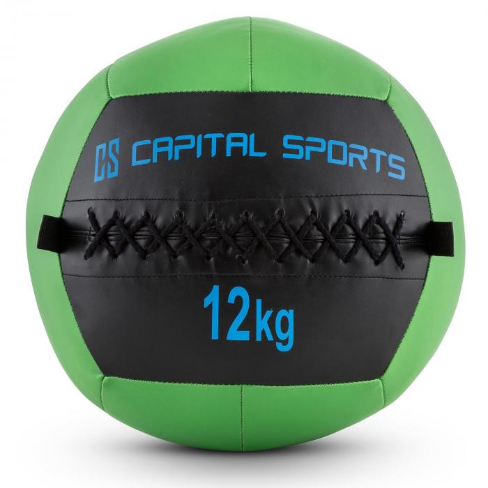 Epitomer Wall Ball 12kg Kunstleder grün