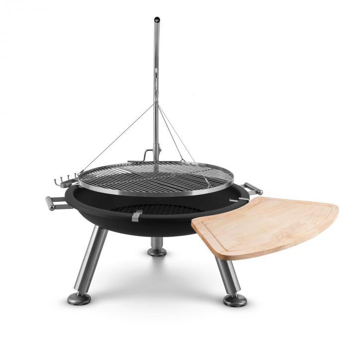 Turion varteen kiinnitettävä vapaasti heiluva grilliritilä ulkopata BBQ vaijerikiinnitys ruostumatonta terästä Ø80cm