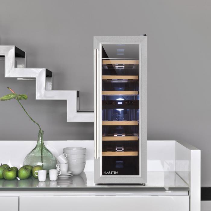 reserva duett 12 weink hlschrank 65 liter 21 flaschen 2 zonen online kaufen elektronik star de. Black Bedroom Furniture Sets. Home Design Ideas