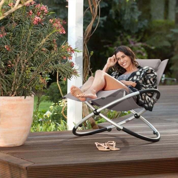 Chilly billy gartenliege liegestuhl relaxliege aluminium - Gartenliege ergonomisch ...