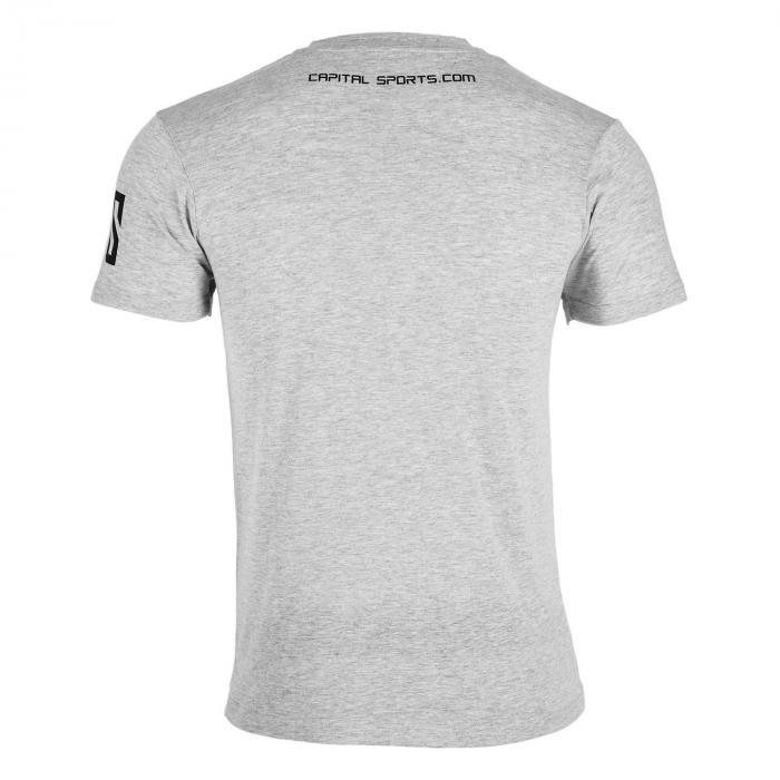 Beforce Trainings-T-Shirt für Männer Size L grau meliert