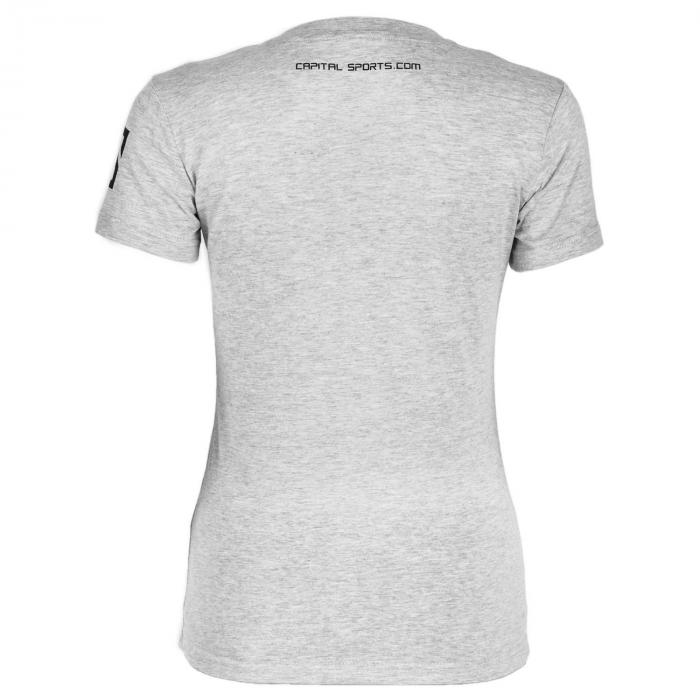 Beforce Trainings-T-Shirt für Frauen Size L grau meliert