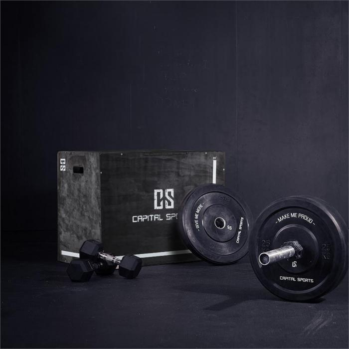 "Shineater BK plyobox 3 korkeudet 20"" 24"" 30"" puuta musta"