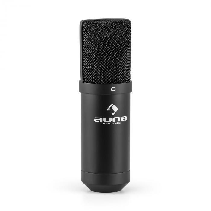 MIC-900B-LED USB Kondensator Mikrofon schwarz Niere Studio LED
