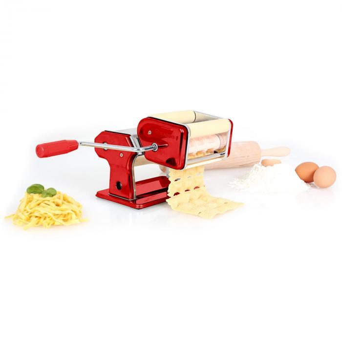 Pastasetti Siena pastakone punainen & Verona pastan kuivausteline