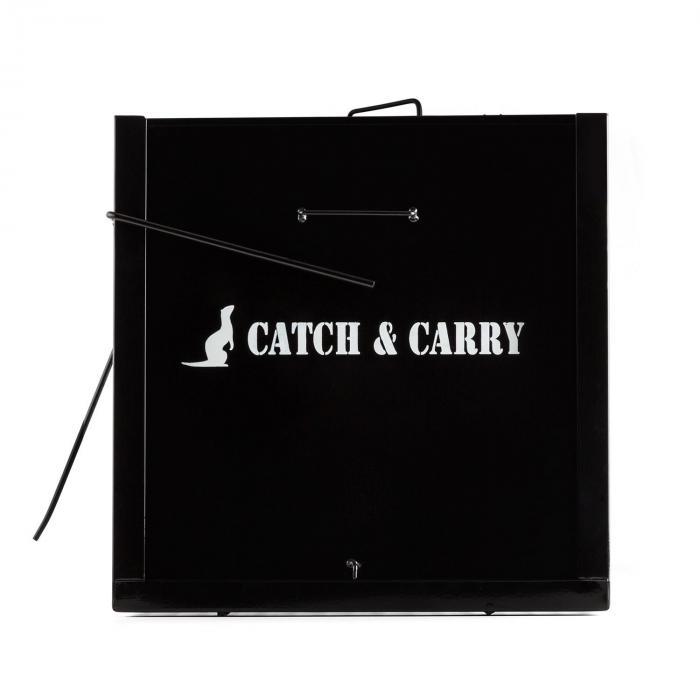 Catch & Carry XL eläinpyydystyshäkki 31x31x104cm 2 mm teräs musta