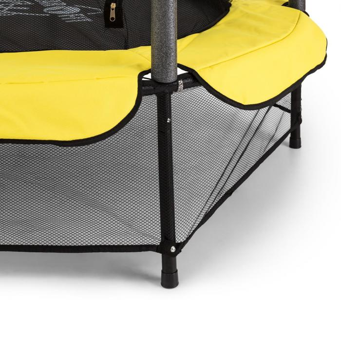 rocketkid 3 trampoline 140cm filet de s curit amortisseurs cordes jaune jaune electronic. Black Bedroom Furniture Sets. Home Design Ideas