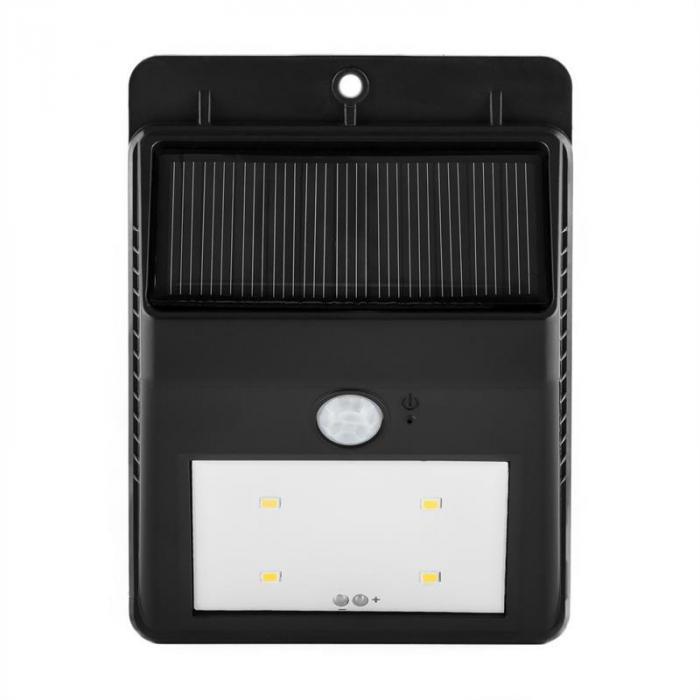 Solarlux aurinkovoimalla toimiva ulkovalo liiketunnistin 4 LED-valoa lämminvalkoinen johdoton