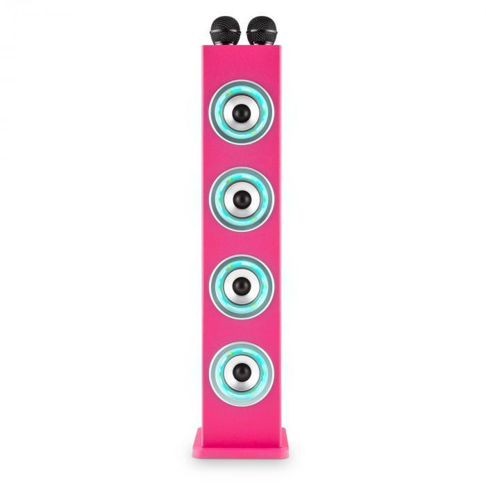 Karaboom PK LED Bluetooth-kaiutin USB AUX karaoke 2 x mikrofoni