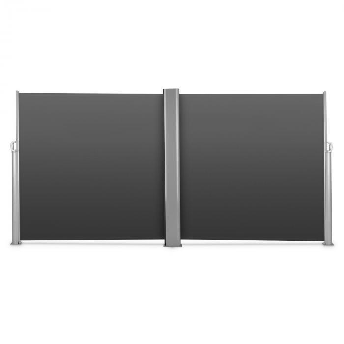 Bari Doppio 618 dubbele zijschermen 6x1,8m aluminium antraciet
