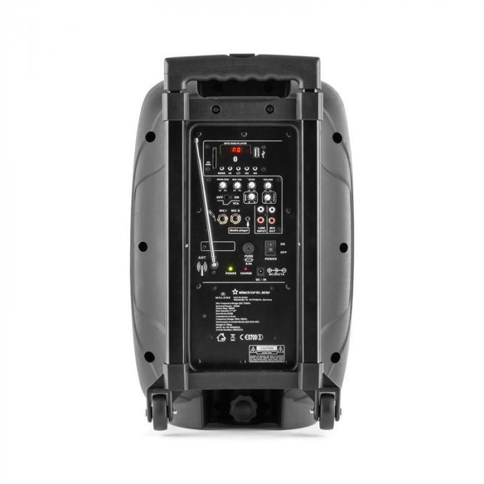 Bushradio 25 Actieve PA-Luidspreker 500W Bluetooth Accu USB SD MP3 VHF