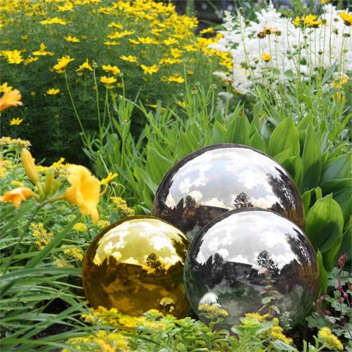 Silver Globe Edelstahl Gartenkugel Dekokugel V2A Hochglanz 30 cm