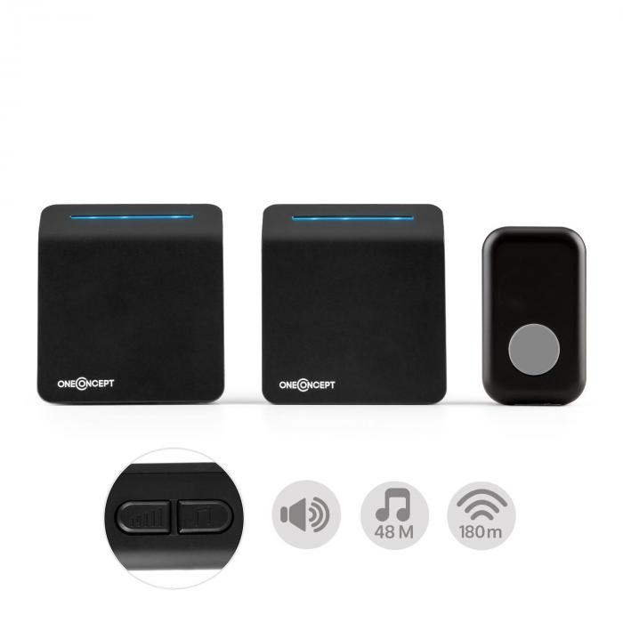Portaton 330 Funk-Türklingel 3-teilig PlugIn-/Batterie-Empfänger