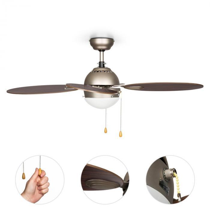 """Valderama Ventilatore da Soffitto 42"""" 60W Lampadario 2x43W Palissandro"""