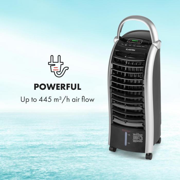 Maxfresh Ventilatore Raffrescatore Umidificatore 444m³/h 6L 55W nero