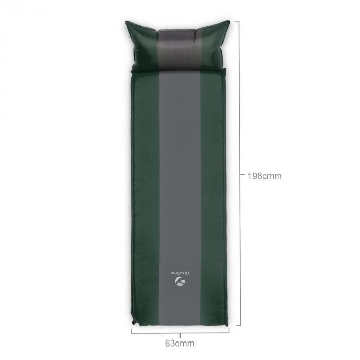 Goodsleep 5 Isomatte Luftmatratze 5cm dick selbstaufblasend grün/grau