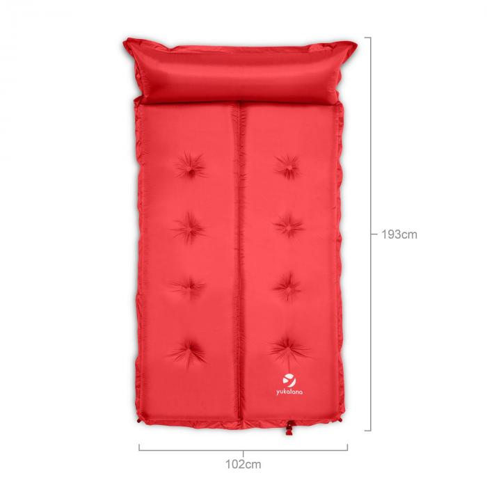 Goodbreak 10 Sleeping Mattress Double Airbed 10cm Thick Pillow Red