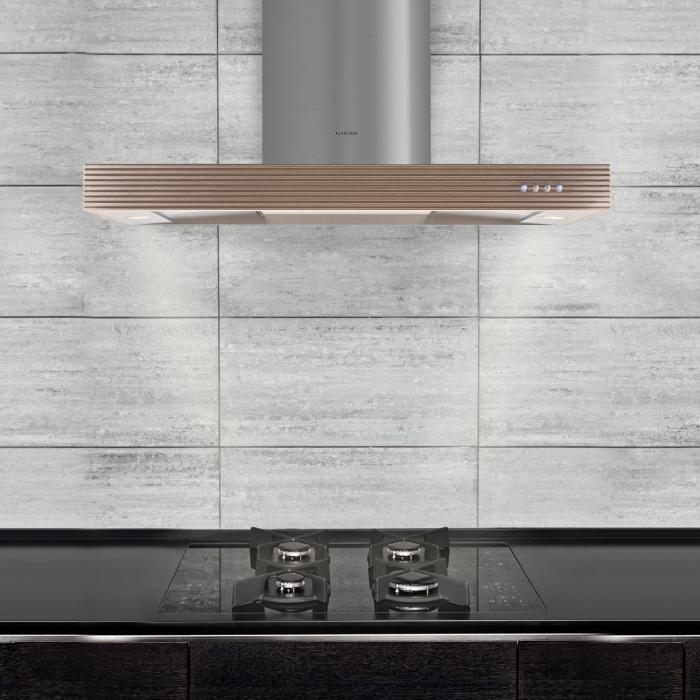 Barenboim Cooker Exhaust Hood Fumes Extractor Stainless Steel Aluminum 90cm Wall-Mounted 637 m³ / h